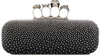 Alexander McQueen Ring Detail Clutch Bag