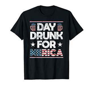 Silly 4th of July Gift Day Drunk For Merica Beer Lovers T-Shirt