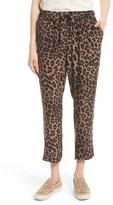 Joie Women's Ayanna B Leopard Print Silk Crop Pants