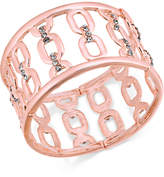 INC International Concepts I.n.c. Silver-Tone Wide Link Stretch Bracelet, Created for Macy's