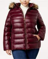 MICHAEL Michael Kors Size Packable Faux-Fur-Trim Down Coat
