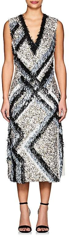 Derek Lam Women's Embellished Silk Sheath Dress