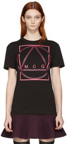 McQ by Alexander McQueen Black Glyph Icon Classic T-shirt
