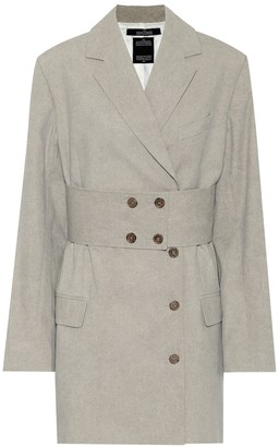 Rokh Cotton belted blazer