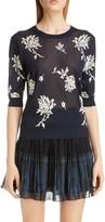 Chloé Floral Intarsia Sweater