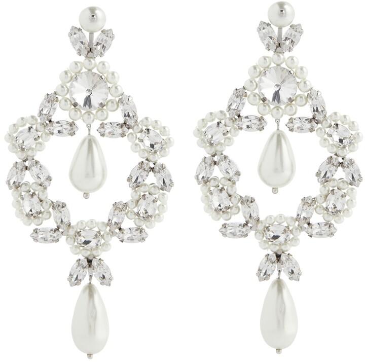 Simone Rocha Cameo Large embellished earrings