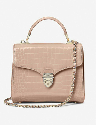Aspinal of London Mayfair midi crocodile-embossed leather bag