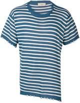 Maison Flaneur striped asymmetric knit T-shirt