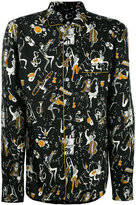 Dolce & Gabbana musical print pyjama shirt - men - Silk - 38