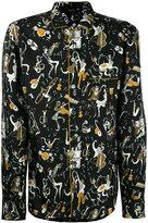 Dolce & Gabbana musical print pyjama shirt