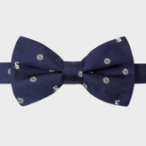 Paul Smith Men's Navy Rabbit And Floral Pattern Silk Bow Tie