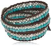 Lucky Brand Turquoise Beaded Wrap Bracelet