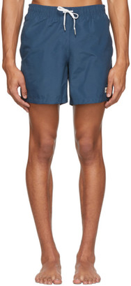 Bather Navy Solid Swim Shorts