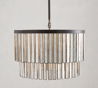 Pottery Barn Astrid Mother of Pearl Round Chandelier