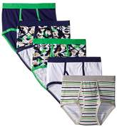 Trimfit - Dino Camo Cotton Briefs 5-Pack Boy's Underwear