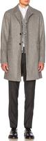 Thom Browne Rounded Lapel Melton Coat