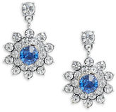 Carolee Something Blue Cluster Drop Earrings