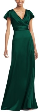 Social Bridesmaids Flutter-Sleeve Maxi Dress