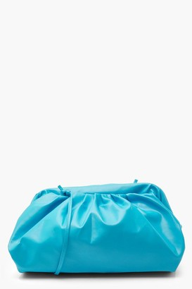 boohoo Slouchy Oversized PU Cluch & Strap Bag