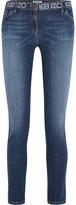 Kenzo Printed Mid-rise Skinny Jeans - Mid denim