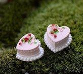 nikstoreinus Artificial Cake Dollhouse Food Decoration Garden Accessories Mini World Wedding Miniature Birthday