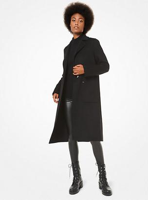 MICHAEL Michael Kors MK Wool Coat - Black - Michael Kors