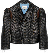 Gucci Studded quilted leather biker