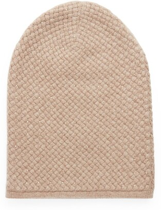 William Sharp Crystal-Embellished Cashmere Beanie