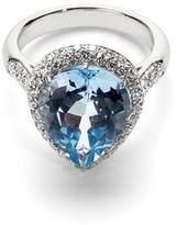 Aspinal of London Hollywood Teardrop Lemon Quartz & Diamond Ring