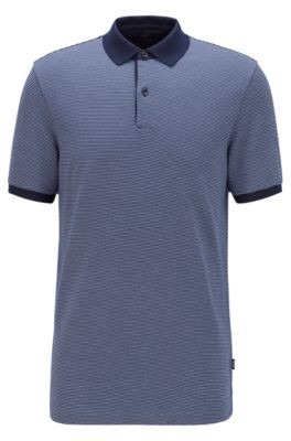 HUGO BOSS Slim-fit polo shirt in patterned cotton