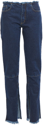 Marques Almeida Frayed Mid-rise Slim-leg Jeans