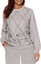 Alfred Dunner Sweet Nothings Long Sleeve Sweatshirt