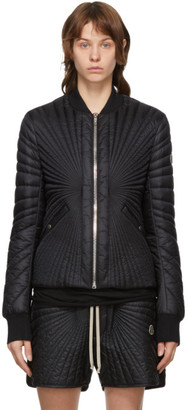 Rick Owens Black Moncler Edition Down Angle Bomber Jacket