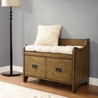 Gracie Oaks Gracie-Mai Drawer Storage Bench Color: Coffee