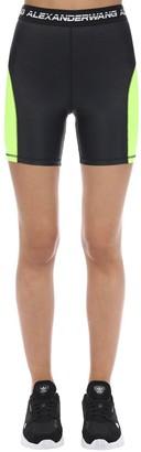 Alexander Wang Logo Stretch Tech Jersey Shorts
