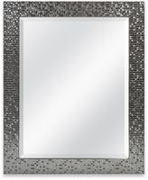 Medium Basic 26.5-Inch x 32.5-Inch Large Rectangular Mirror in Silver Tile