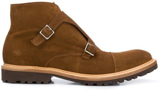 Eleventy Monk-Strap Ankle Boots
