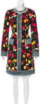 Dolce & Gabbana Denim-Trimmed Floral Coat