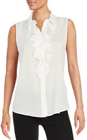 Karl Lagerfeld Paris Ruffled-Front Blouse