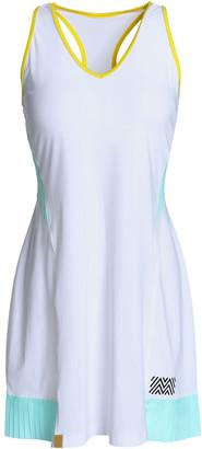 Monreal London Cutout Pleated Stretch Tennis Dress