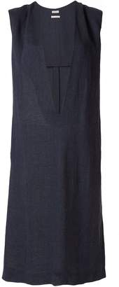 Hermes Pre-Owned plunging shift dress
