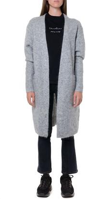 Acne Studios Grey Melange Blended Wool Long Coat