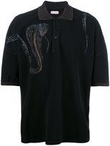 Palm Angels snake print polo shirt - men - Cotton - XS