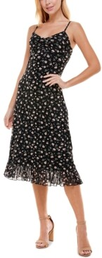 Ultra Flirt Juniors' Floral-Print Midi Dress