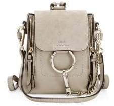 Chloé Faye Leather& Suede Mini Backpack