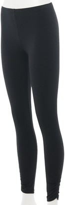 So Juniors' Favorite Long Leggings with Cinched Ankle Detail