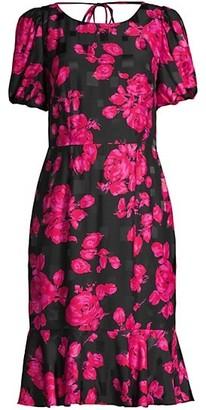 Milly Katia Rose Jacquard Dress