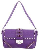 Prada Saffiano Soft Studded Shoulder Bag