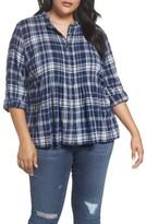 Caslon Plus Size Women's Pintuck Pleat Blouse