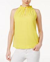 Kensie Luxury High-Neck Crepe Top